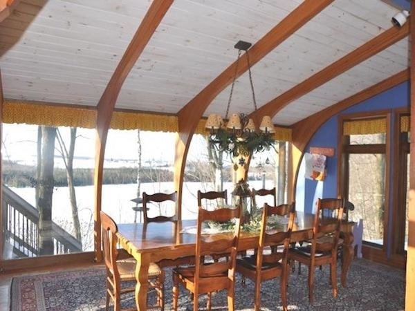 Sunroom Kits with Arched Wood Beams